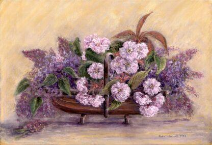 Blossoms In Garden Trug (Pastel) 2