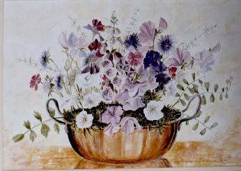 Flowers In Copper Pan