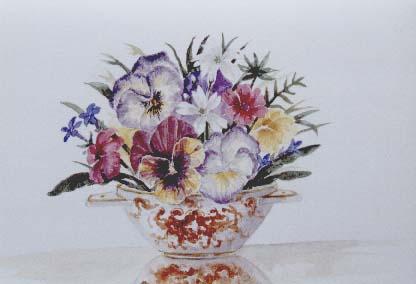 Flowers In Minton Vase
