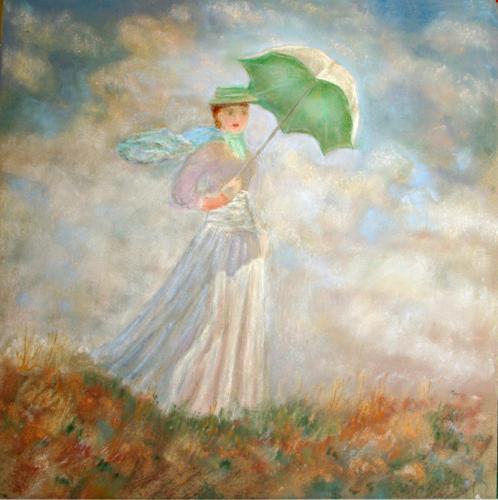 Lady With Umbrella